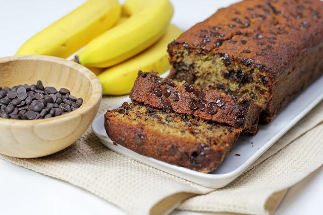 Το πιο υγιεινό κέικ μπανάνας με σοκολάτα!