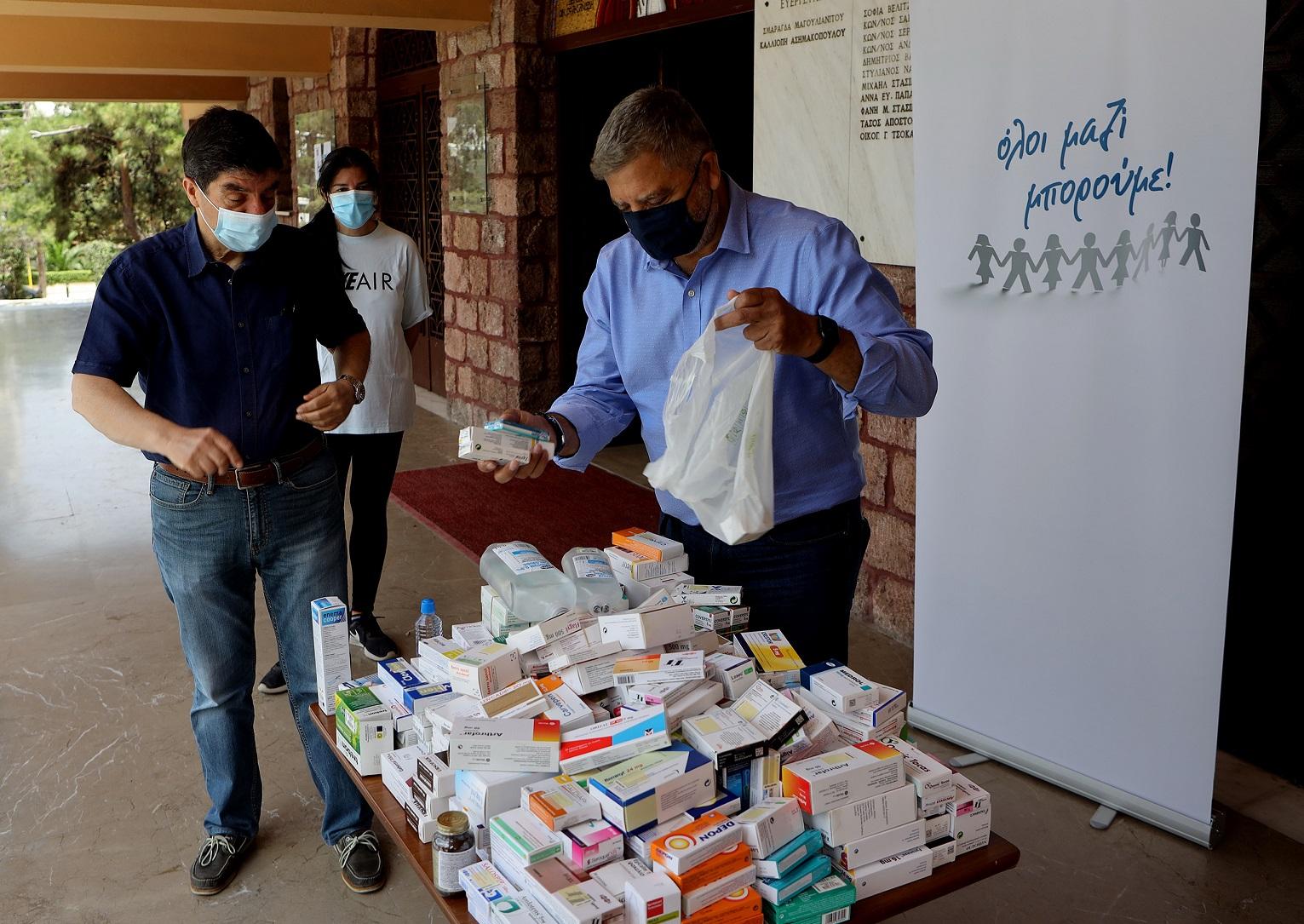 Δεκάδες σακούλες με φάρμακα και υγειονομικό υλικό συγκεντρώθηκαν για τη στήριξη των ανήμπορων συμπολιτών μας