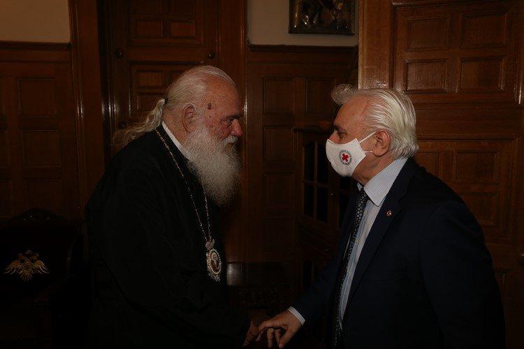Στον Αρχιεπίσκοπο ο Πρόεδρος του Ελληνικού Ερυθρού Σταυρού