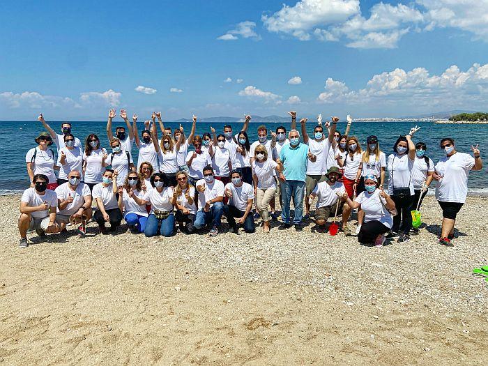 Συνεργασία MSD και Δήμου Αλίμου για τον καθαρισμό της παραλίας Αλίμου