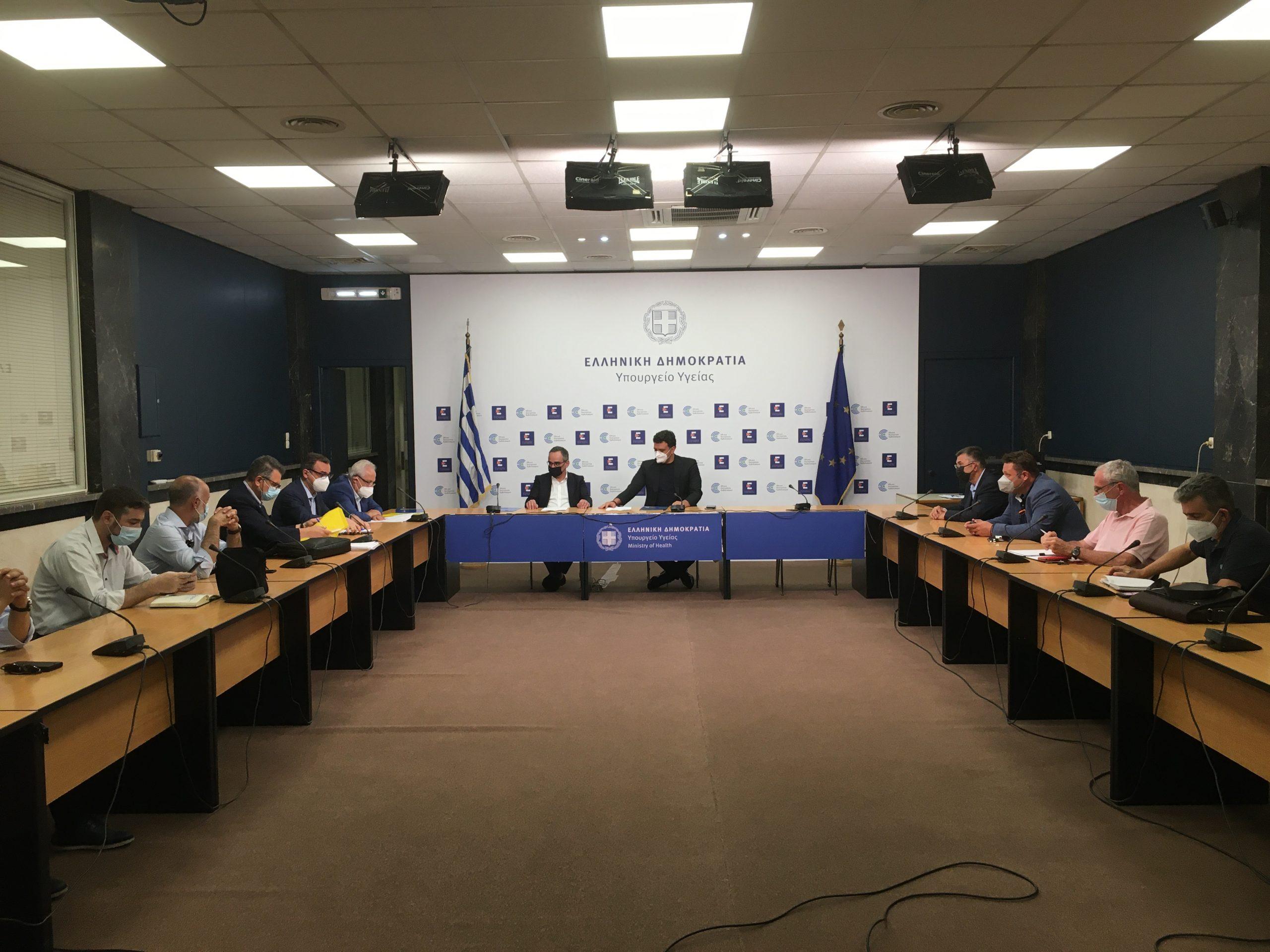 Συνάντηση Π.Φ. Σ. με τον υπουργό Υγείας Β. Κικίλια για τα προβλήματα του κλάδου