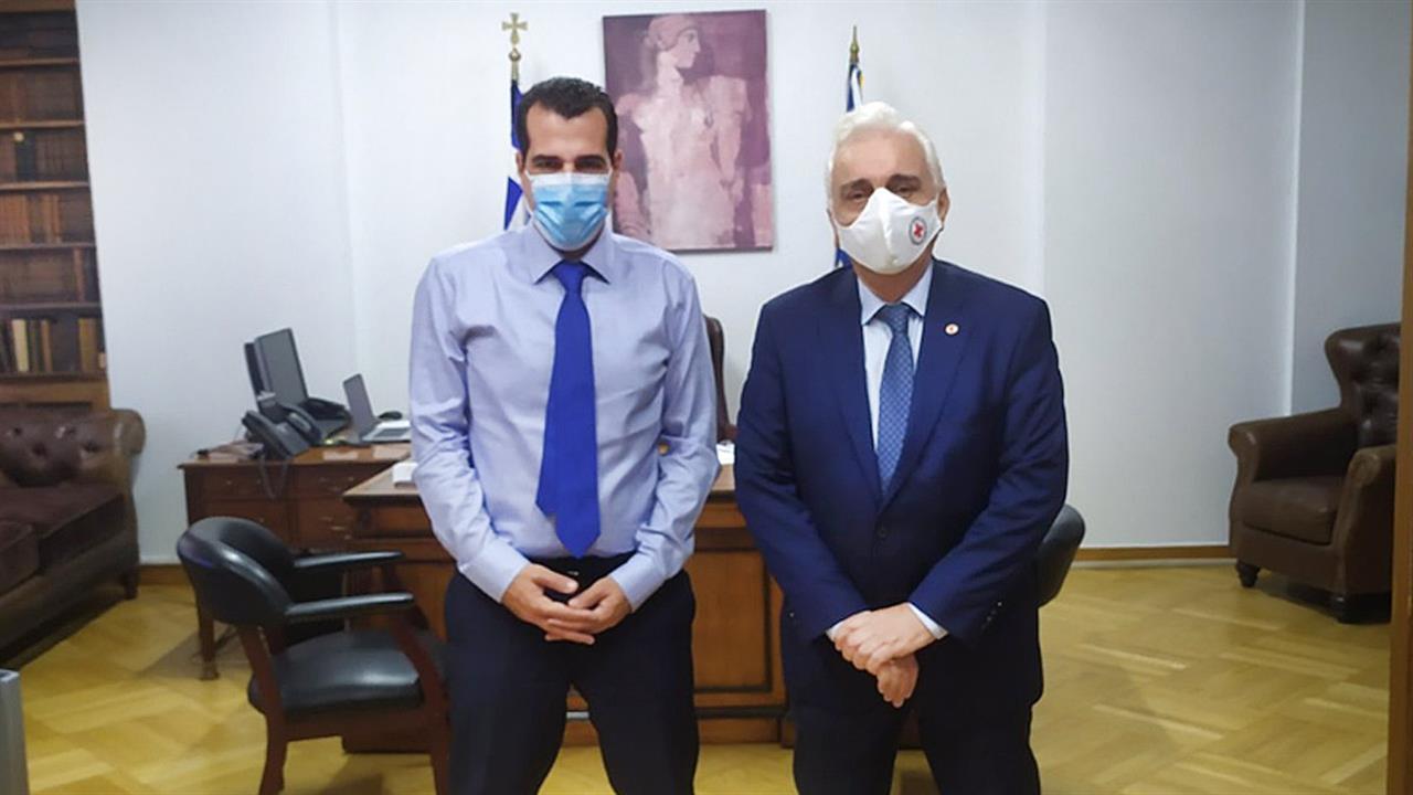 Eπίσκεψη του Προέδρου του Ε.Ε.Σ. στον νέο Υπουργό Υγείας  Αθανάσιο Πλεύρη